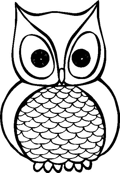 Owl Clipart To Colour   Clipart Best