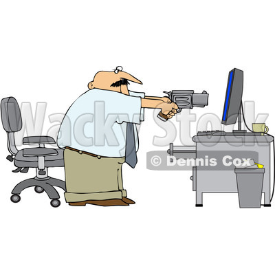 Royalty Free  Rf  Clipart Illustration Of An Angry Businessman Holding