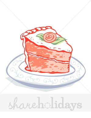 Strawberry Cake Clipart   Birthday Cake Clipart
