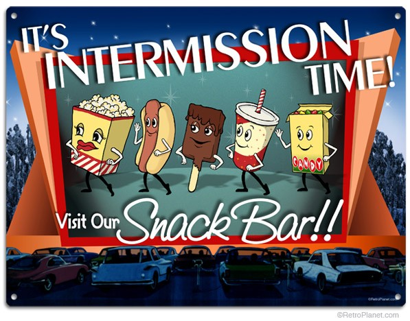 301 Moved Permanently: Movie Concession Stand 1950s Clipart