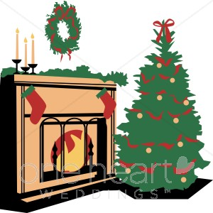 Christmas Tree Clipart Holiday Couple Clipart Cartoon Christmas Tree
