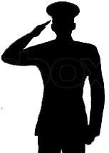 Saluting Soldier Outline Pictures to Pin on Pinterest ...