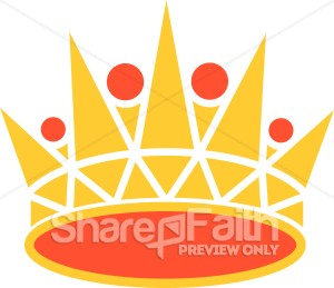 Gold And Orange Crown   Crown Clipart