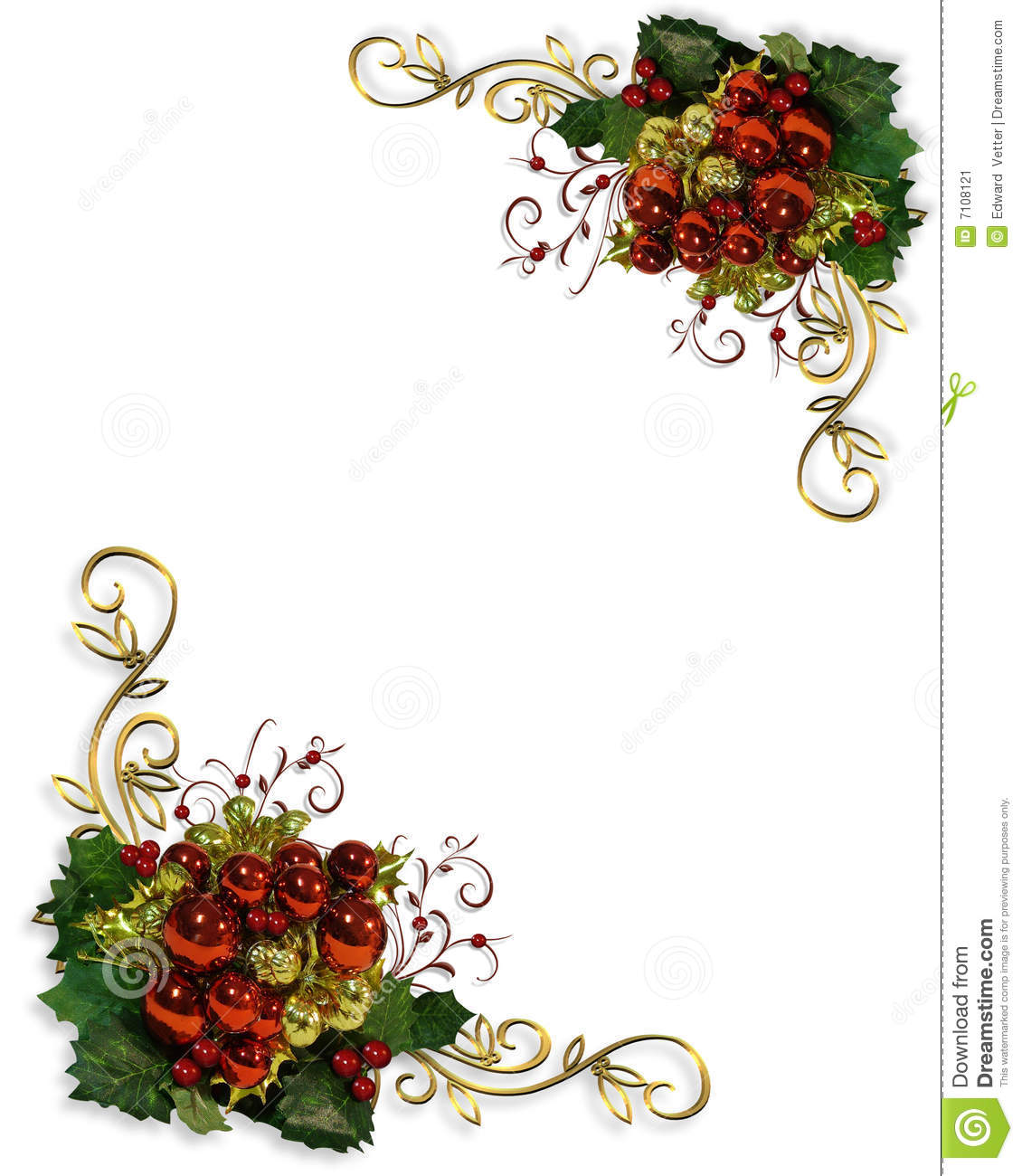 Image And Illustration Composition For Christmas Card Invitation