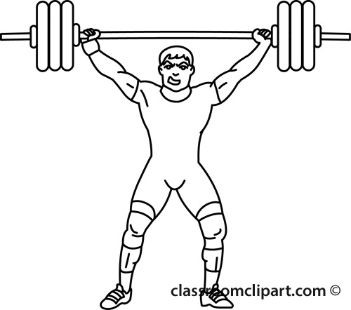 Man Lifting Weights Clipart Classroom Clipart