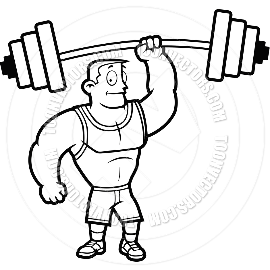 Man Lifting Weights Clipart Lifting Weights  Black And