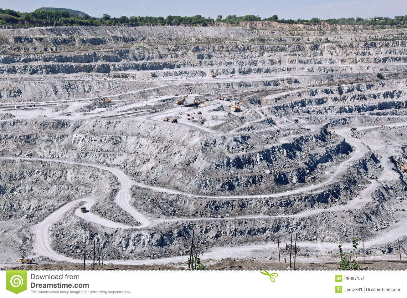Open Cast Mine On Asbestos Extraction Stock Images   Image  26087154