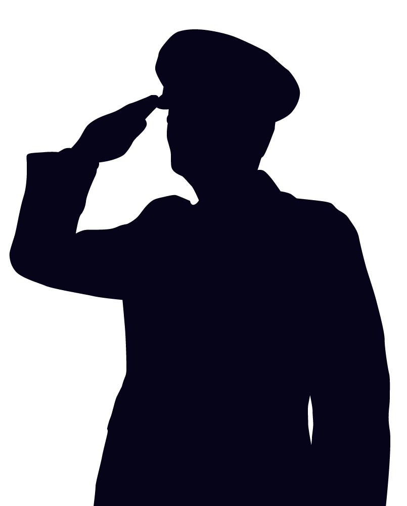 Silhouette Soldier Soluting Clipart - Clipart Kid
