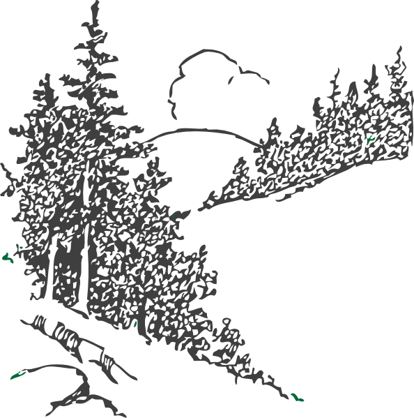 Pine Tree And Mountain Scene Clipart - Clipart Kid