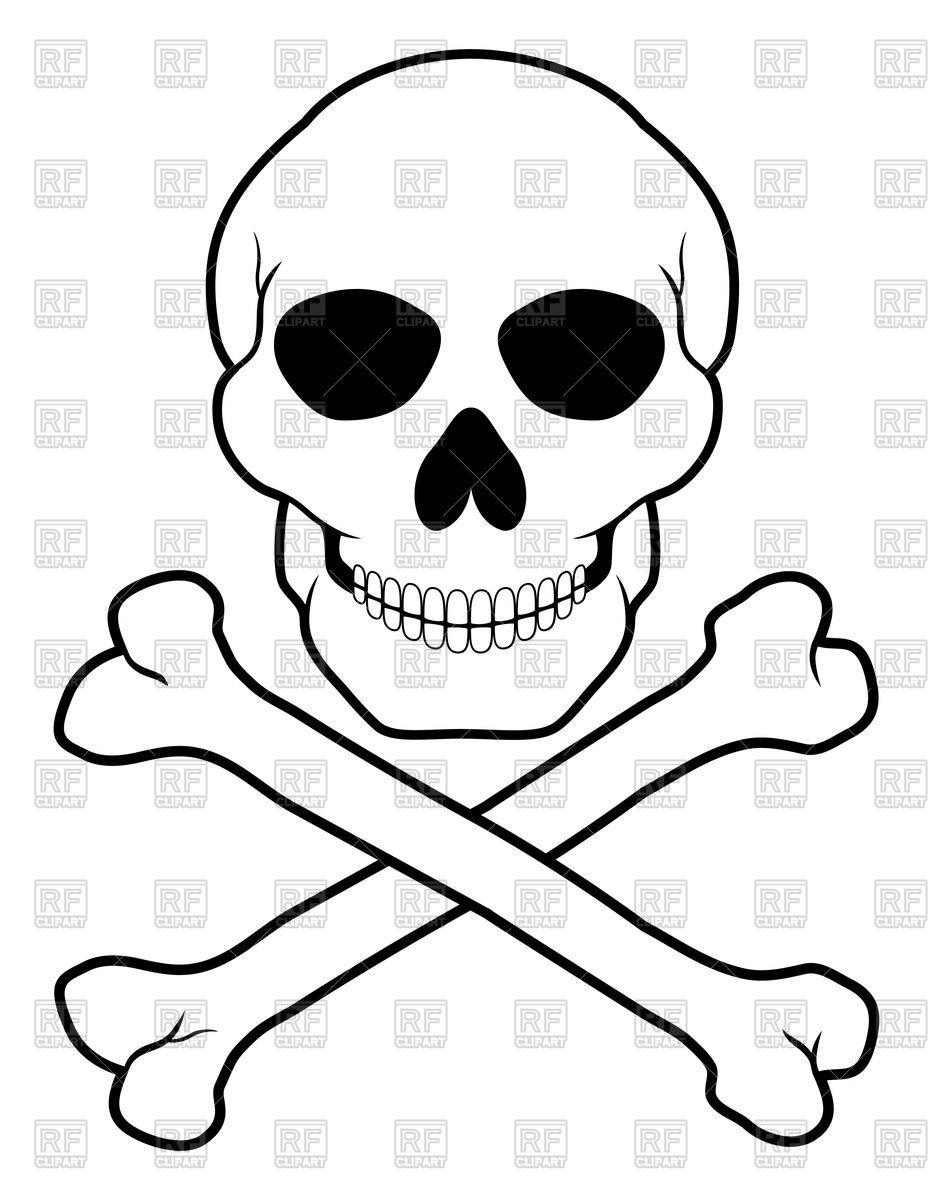 Pirate Skull And Crossbones Clipart - Clipart Kid