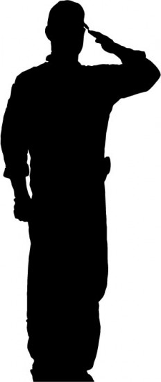 Silhouette Soldier Soluting Clipart - Clipart Suggest