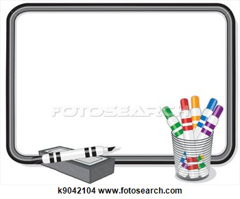 Whiteboard With Multicolor Marker Pens Eraser  Copy Space To Add Your