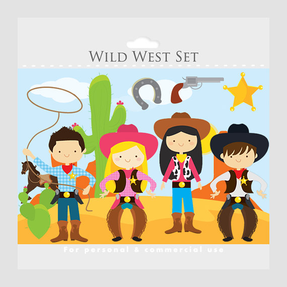 Wild West Clipart   Cowboy Clip Art Cowgirls Cowboys Horse Lasso