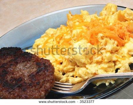 Breakfast Sausage Patty Clipart Blue Plate Special Breakfast