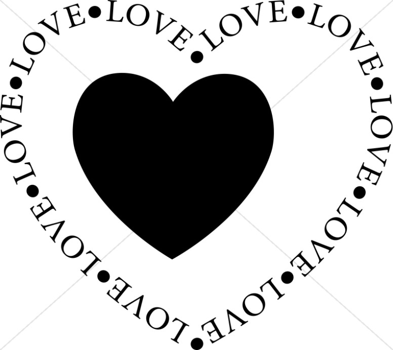 Valentine's Day Black And White Clipart - Clipart Kid