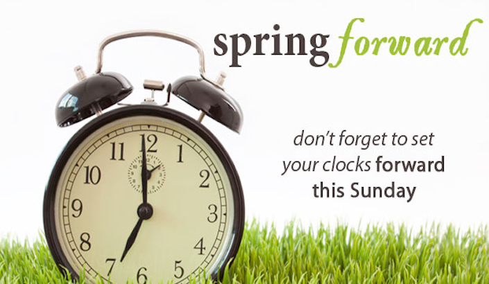 Daylight Savings Time Begins This Sunday #uncPjg - Clipart Kid