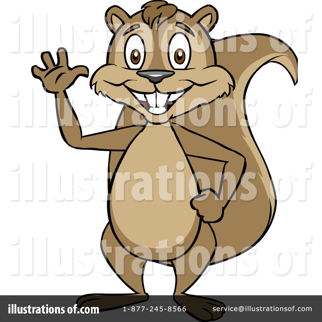 Free  Rf  Squirrel Clipart Illustration  1104844 By Cartoon Solutions