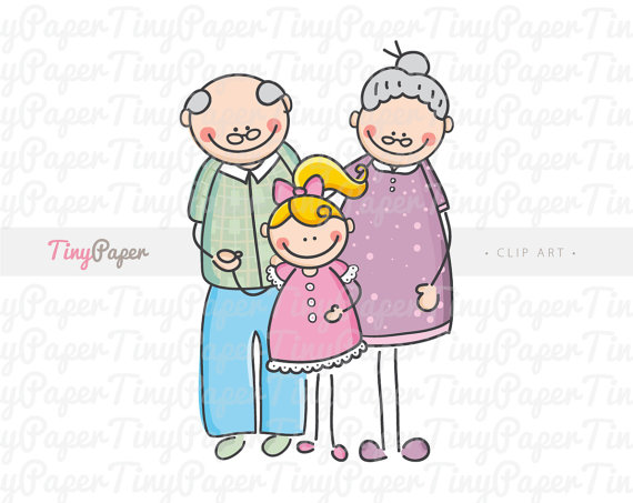 granddaughter black and white clipart clipart suggest