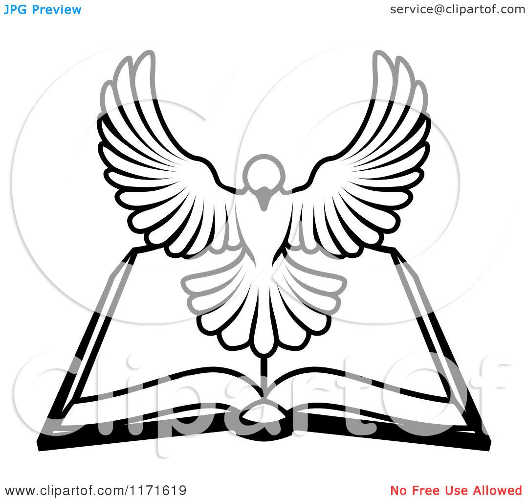 Holy spirit dove clipart black and white - photo#10