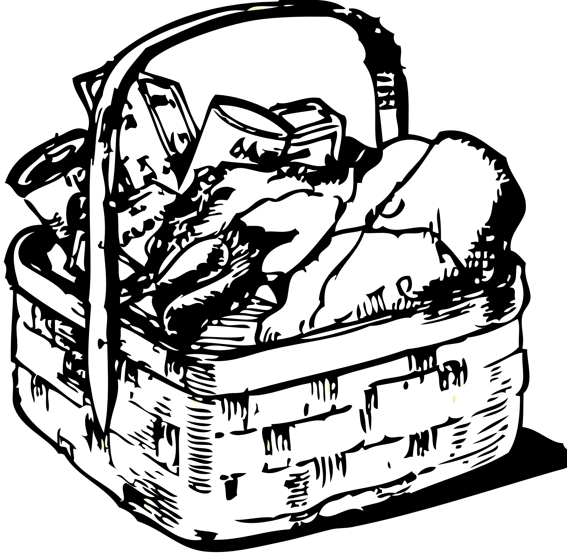 White Basket Clipart : Image gallery hamper clip art