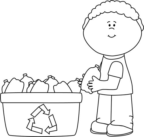 Recycle Clipart Black And White
