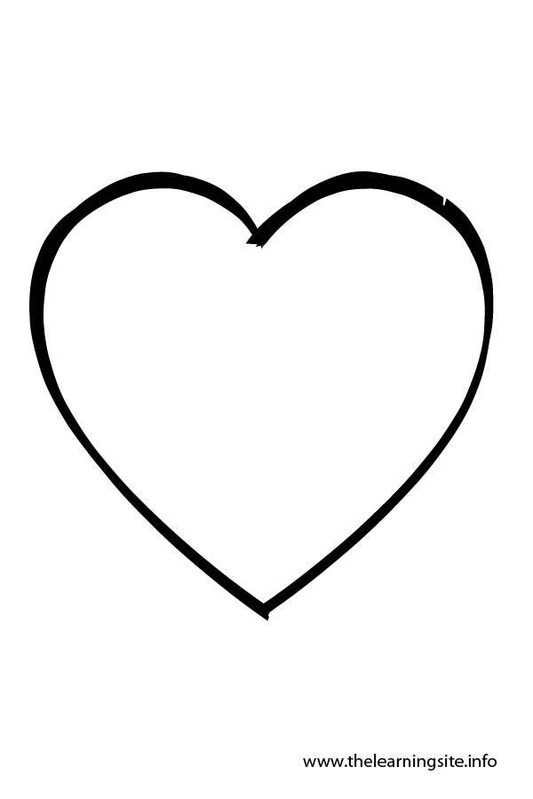 Heart shaped balloon outlines clipart clipart suggest for Heart shaped coloring pages
