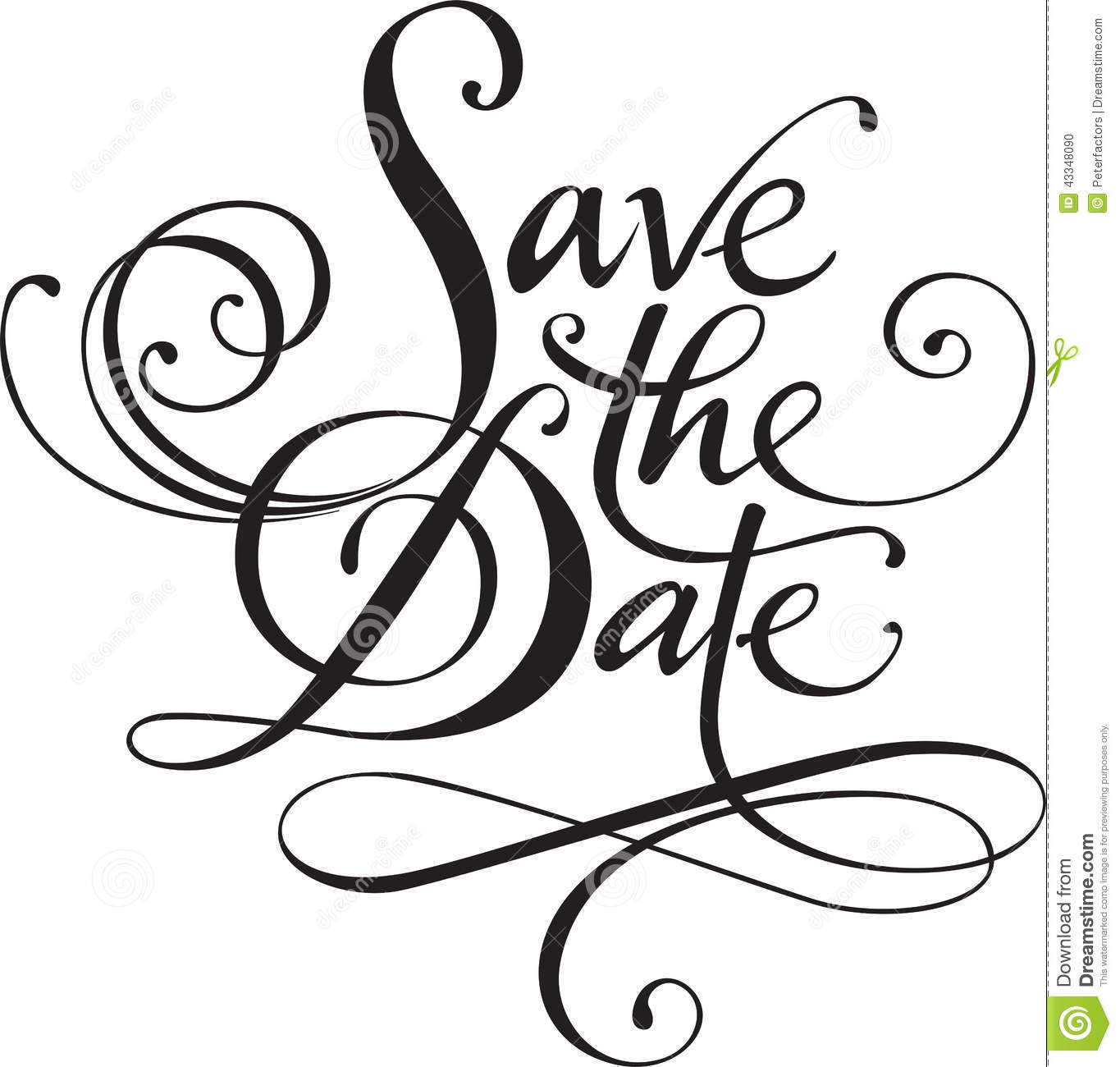 Save the Date Cliparts EPS & PNG ~ Illustrations on Creative Market