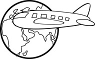 Clip Art Black And White Travel Clipart - Clipart Suggest