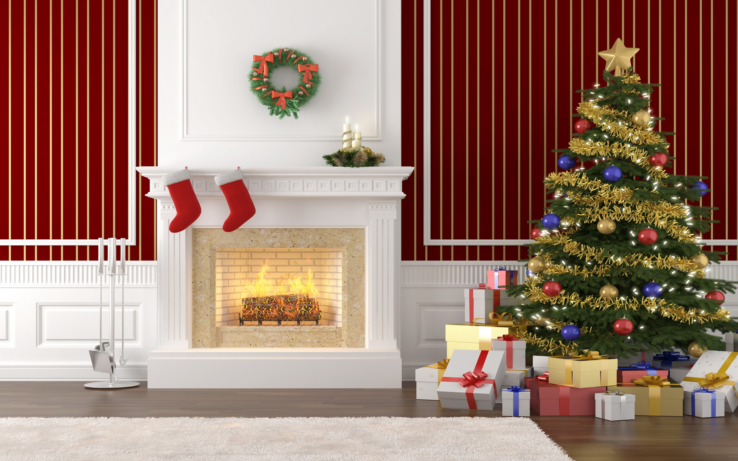 fireplace with tree clipart clipart suggest