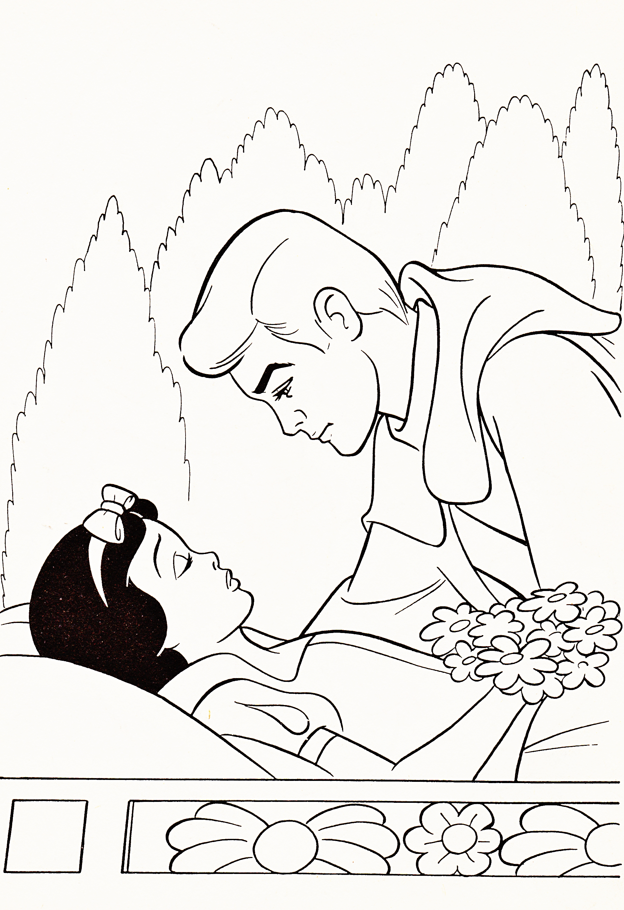 Disney princess black and white clipart clipart suggest for Coloring pages of snow white