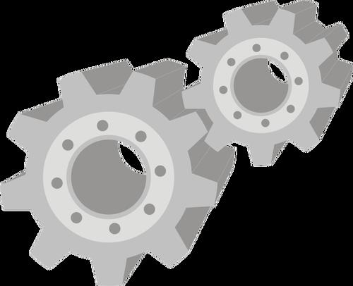 3d Mechanische Getriebe Vektor Clipart   Public Domain Vektoren