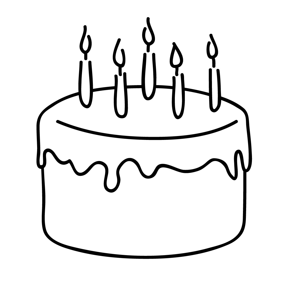 Birthday Cupcake Clip Art Black And White Birthday Candles Clipart