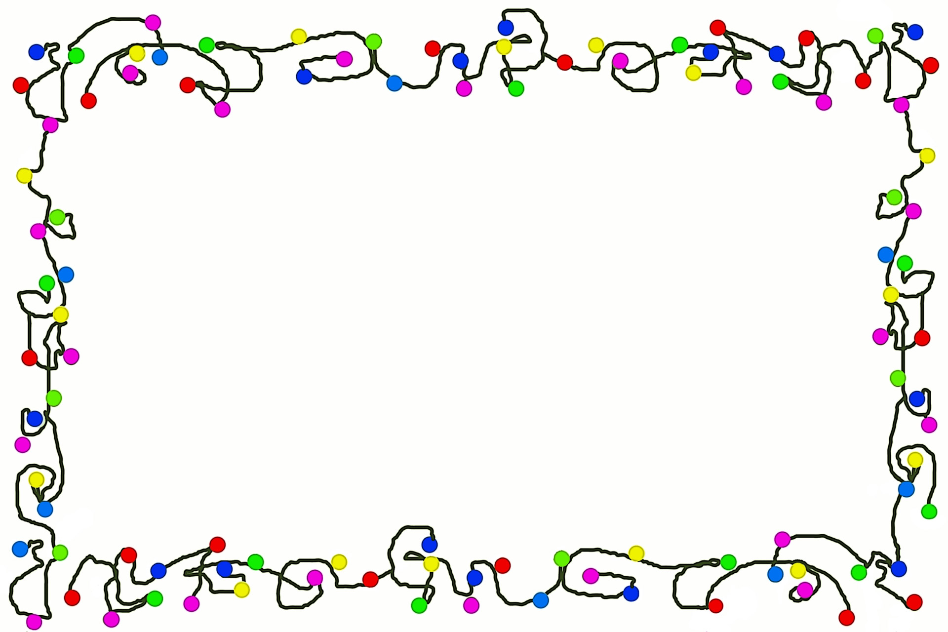 Bells Garland Christmas Lights Border Clipart - Clipart Kid