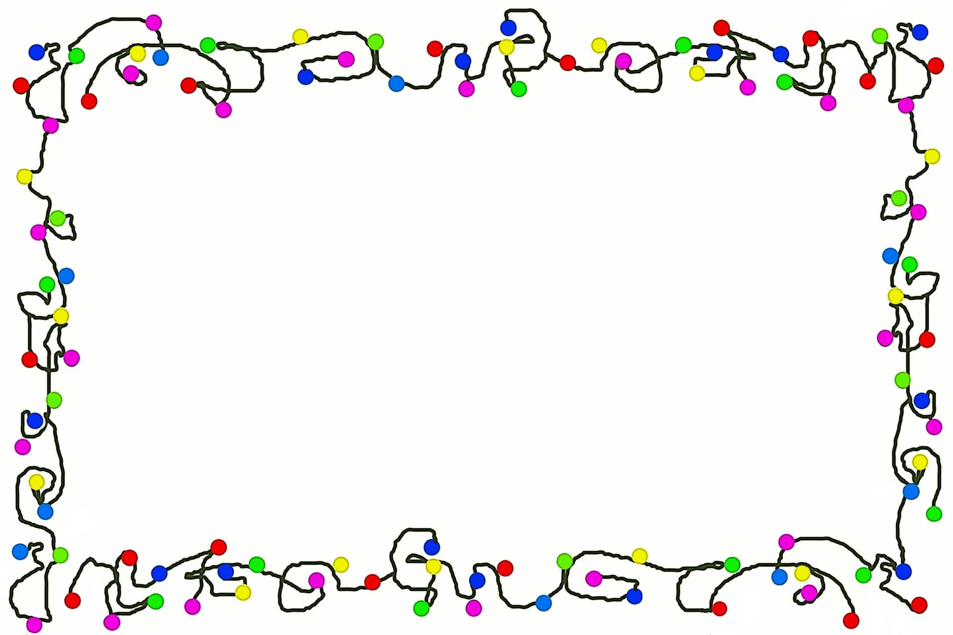 Bells Garland Christmas Lights Border Clipart - Clipart Kid