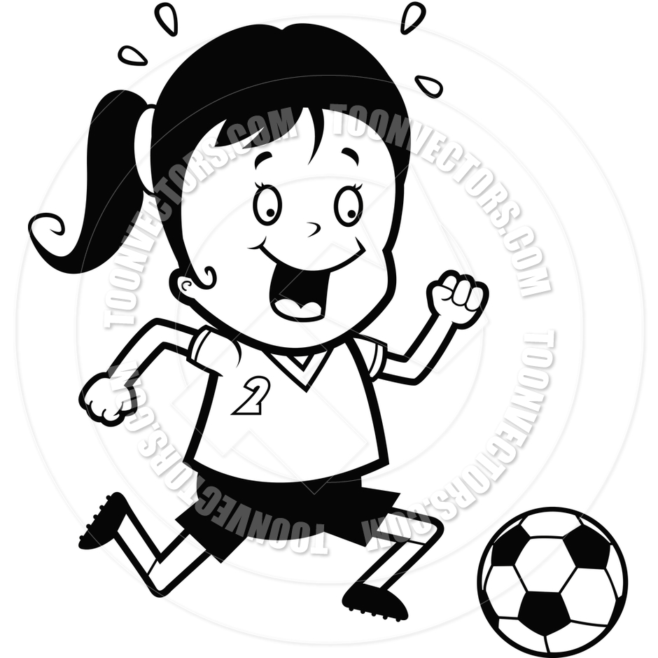 Child Playing Black And White Child Playing Soccer Black