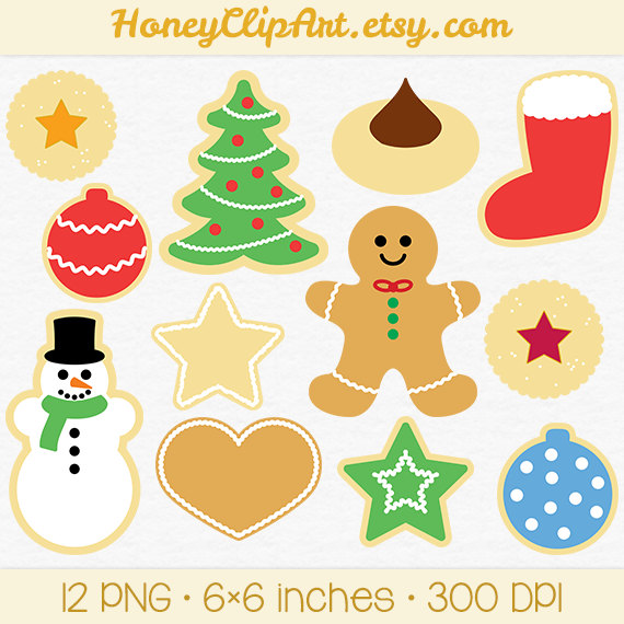 Christmas Cookie Clip Art With Gingerbread Man By Honeyclipart