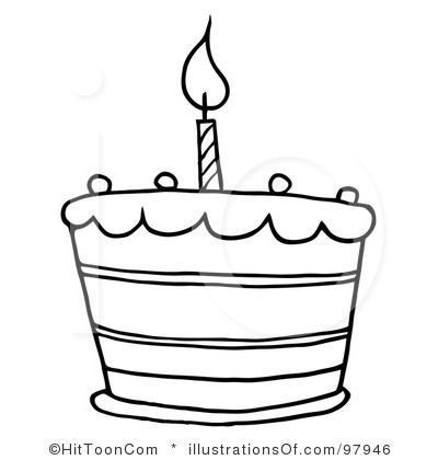Clipart Black And White Birthday Cakes Clip Art Black And White 427