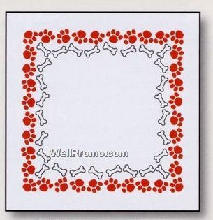 Colored Dog Paw Print Border 14 X14 Two Color Custom Paws