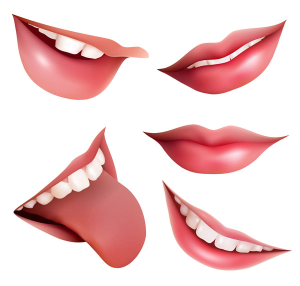 Lipstongueteethsmile Vector Eps Format Keywords  Mouth Lips