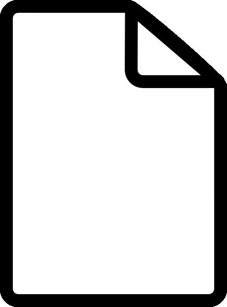 New File Simple Clip Art At Clker Com Vector Clip Art Online
