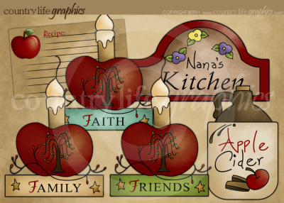 Primitive   Country Clipart   Nana S Kitchen At Country Life Graphics