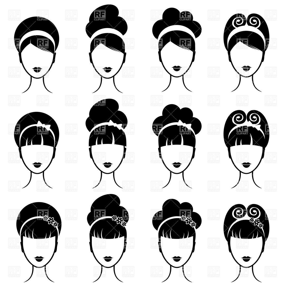 free clipart hairstyles - photo #11