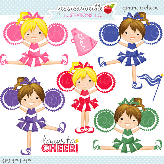 Use Ok   Cheerleading Clipart Cheerleading Graphics Digital Art