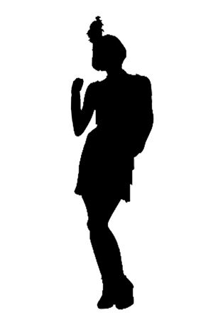 1920s Silhouette   Flapper Silhouette 2   1920 S  Age Of Elegance And