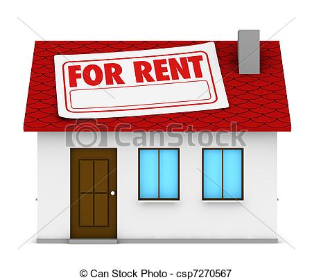 Apartment For Rent Clipart House For Rent   Csp7270567