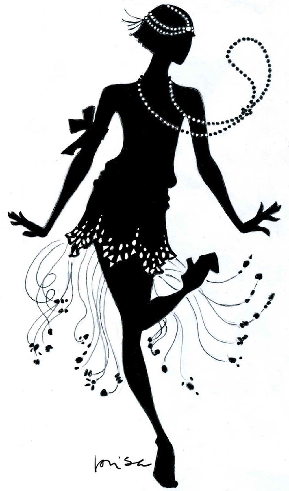 Flapper Dance Clipart