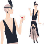 Flapper Illustrations And Clip Art  191 Flapper Royalty Free