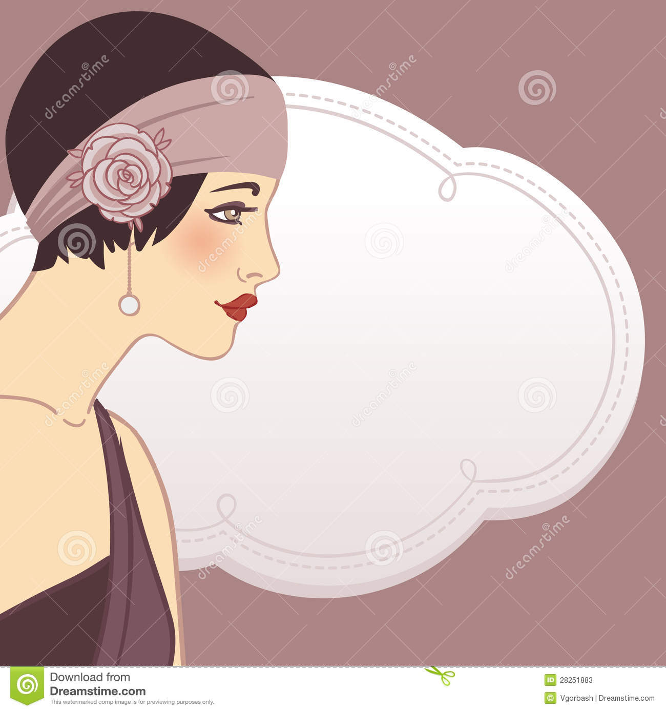 Gallery For   1920s Flapper Clip Art