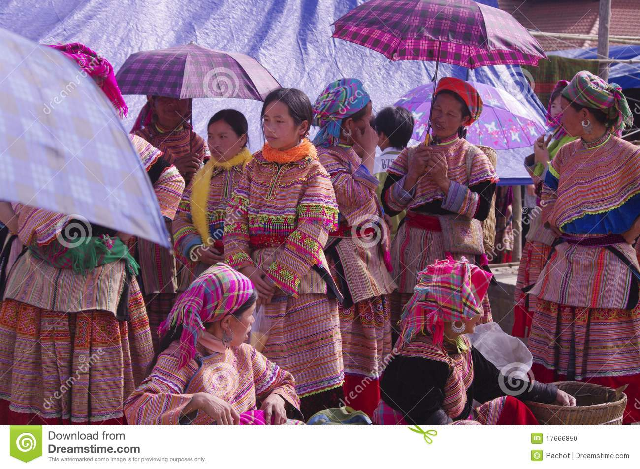 Group Of Women At Bac Ha Market In Conversation  The Market Is The