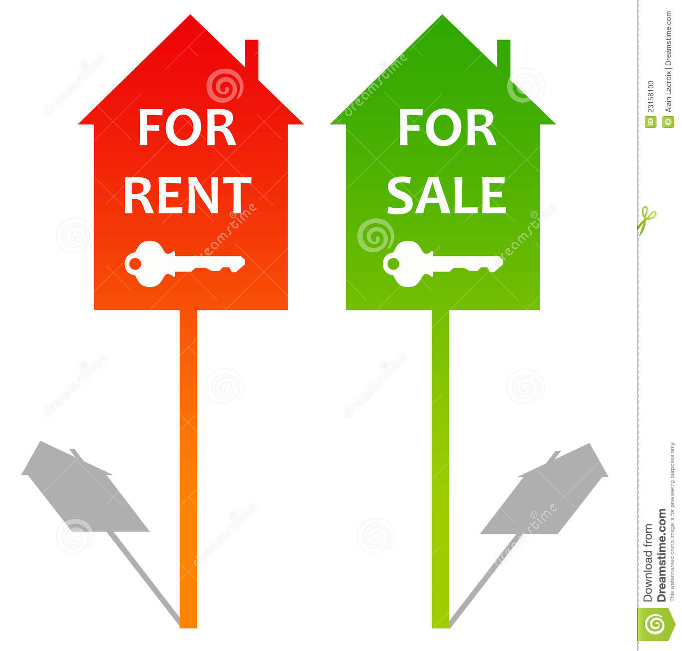 Houses For Rent Or Sale Clipart